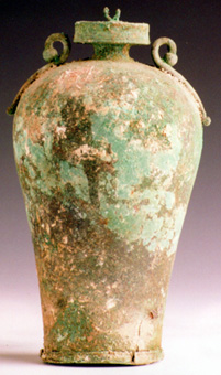 Roman Period Bronze Lidded Jar