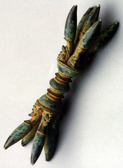 Khmer Bronze Ceremonial Lightning Bolt