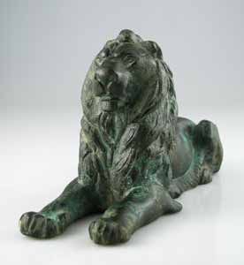 Graeco-Roman Bronze Sculpture of a Lion