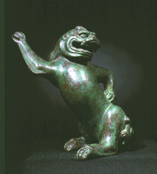 Warring States/ Western Han Bronze Sculpture of a Mythological Beast