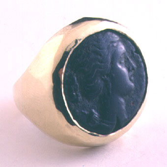 Ring with a Bronze Coin of the City of Syracuse in Sicily