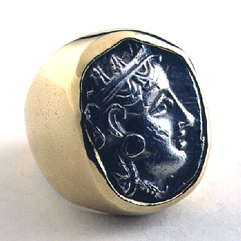 Gold Ring with Athenian Silver Tetradrachm