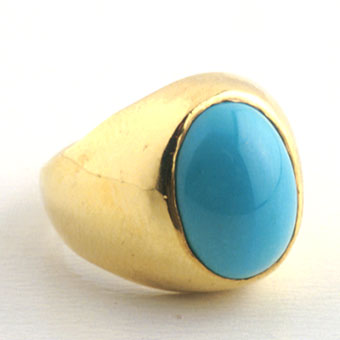 Gold Ring Featuring a Turquoise