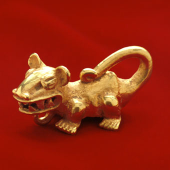 Gold Jaguar Pendant