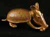 Gold Sculpture of an Armadillo
