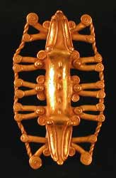 Gold Pendant of a Double-Headed Crocodile