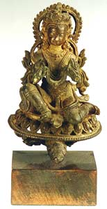 Tibetan Bronze Sculpture of a Seated Deity