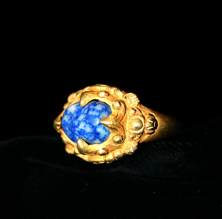 Lapis Lazuli Set in Gold Ring