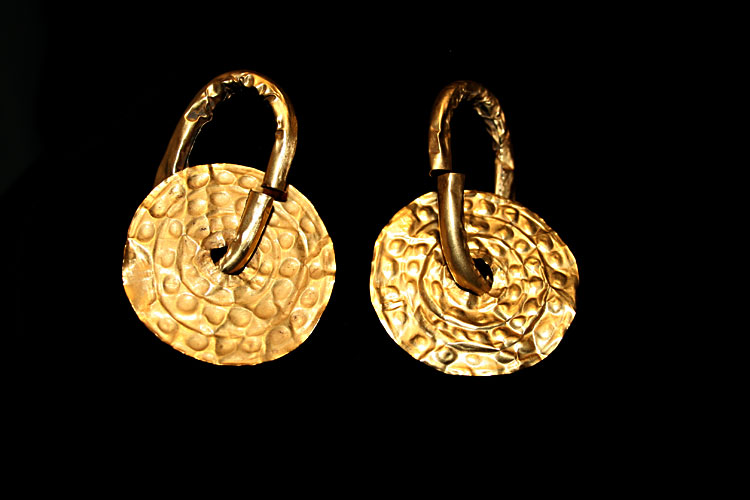 Pair of Gold Earings/ Hair Ornaments