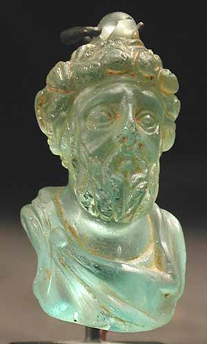 Glass Portrait Of The Emperor Septimius Severus