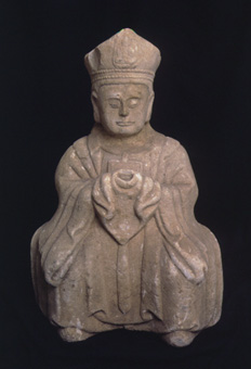 Marble Sculpture of a Seated Sage