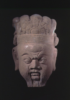 Stone Sculpture of a Head