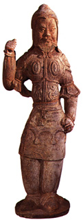 Tang Terracotta Sculpture of a Military Officer