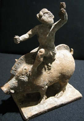 Group of Silenus on a boar