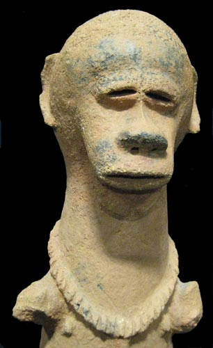 Nok (Katsina) Terracotta Sculpture of a Man with Ape-like Features