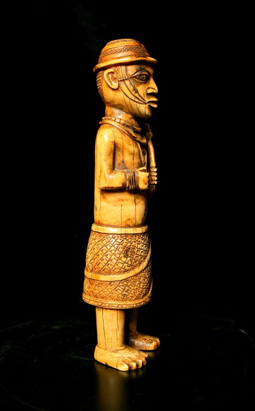 Benin Ivory Figure of a Young Dignitary