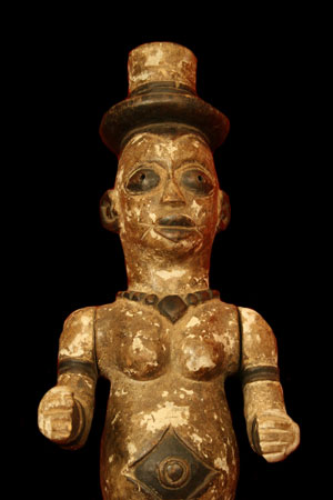 Urhobo Edjo or Ancestor Figure with Articulated Arms