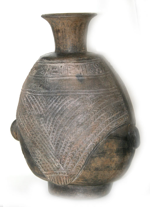 Chimu Terracotta Vessel in the Form of a Head