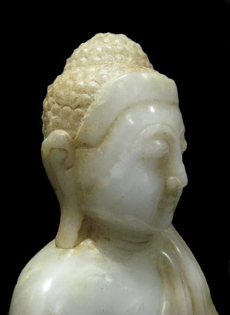 Mandalay Marble Seated Buddha