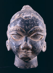 North Indian Stone Head of a Female Deity