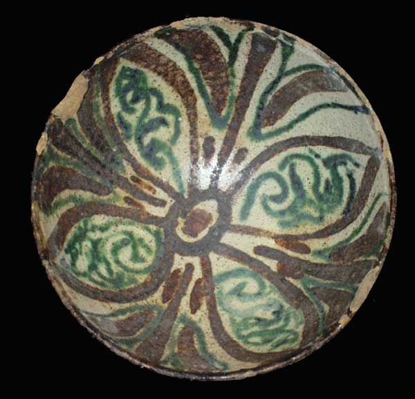Early Islamic Slip-Painted Bowl