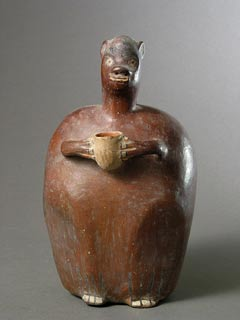 Paracas/Nazca Vessel in the Form of a Monkey