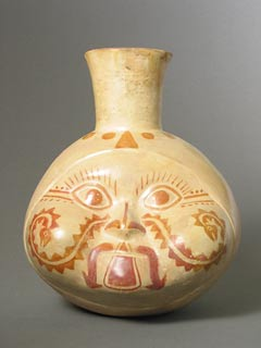 Salinar Culture Head Effigy Vessel