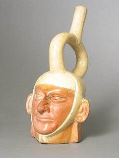 Moche Portrait Head Vessel