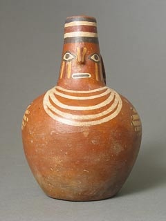 Late Nazca Painted Human Effigy Jug