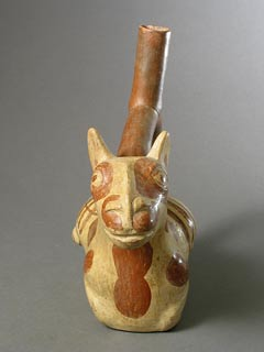 Moche Stirrup Vessel in the Form of a Llama