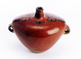 Incan Redware Vessel with Scorpion Motifs