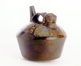 Paracas Cavernas Spout and  Bridge Effigy Jar