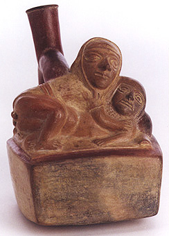 Moche Vessel Depicting an Erotic Scene