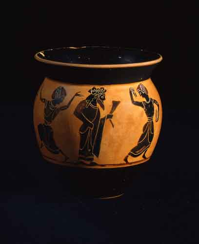 Greek Attic Black-Figured Mastoid Cup