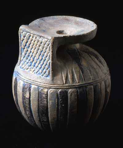 26th Dynasty Faience Corinthian Style Aryballos