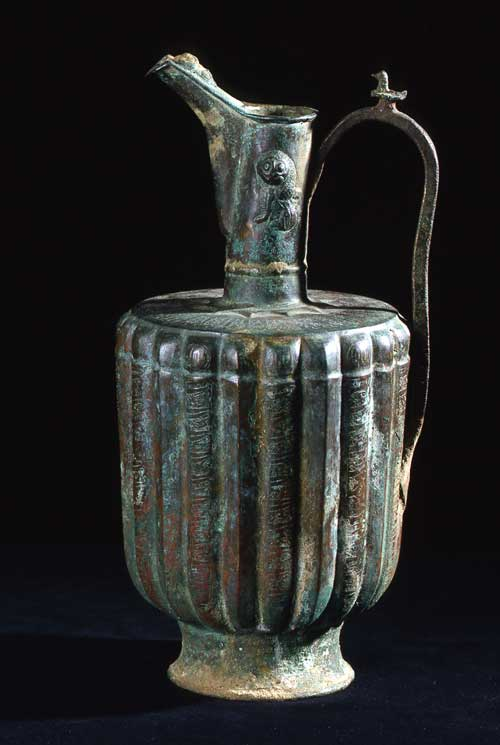 Bronze Ewer with Fluted Body