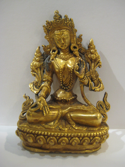 Gilt Bronze Figure of White Tara