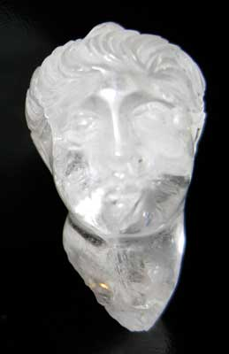 Roman Rock Crystal Miniature Male Head