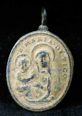 Bronze Pendant Depicting the Virgin and Child and St. Bernand of Clairvaux
