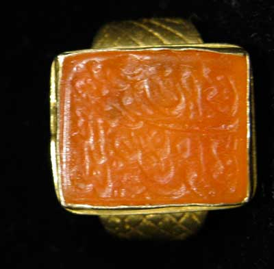 Gold Ring Featuring a Carnelian Seal