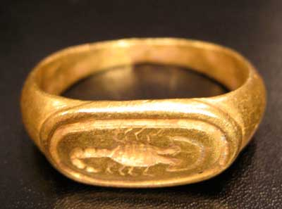 Gold Scorpion Seal Ring