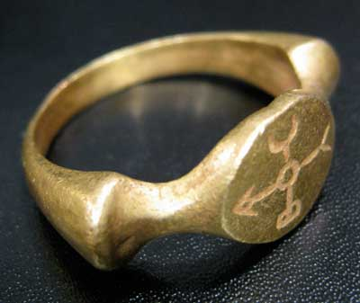Incised Gold Ring