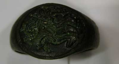 Roman Bronze Seal Ring