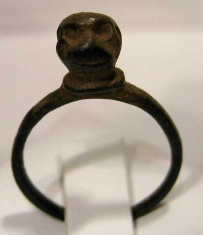 Roman Bronze Ring with Simian