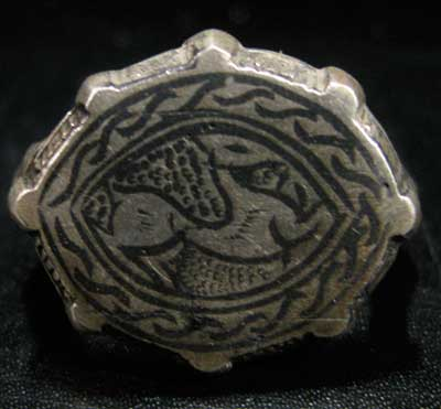 Silver Ring with Animal Motif