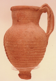 Roman Period Jug with Knob Base and Twisted Handle