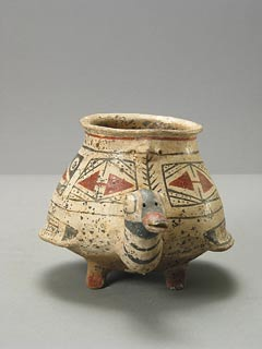 Polychrome Jar in the form of a Duck