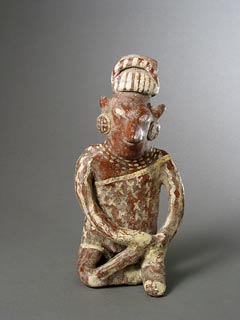 Tala-Tonalá Style Jalisco Terracotta Sculpture of a Seated Man