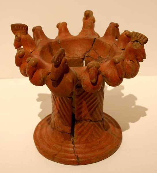 Atlantic Watershed Terracotta Pot Stand with Roosting Birds