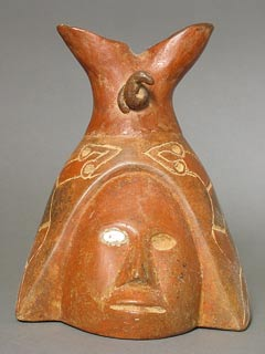 Colima Double-Headed Vessel Decorated with Snakes